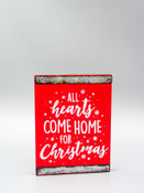 all hearts come home for christmas wood block