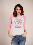 pink and grey graphic christmas tee rudolph leopard print