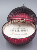 Winter Wood Red 5 Inch Ornament Candle
