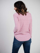 pink and ivory sweater