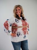 cream sweater with aztec print plus clothing curvy