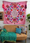Be Happy Tapestry Blanket