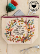 Today I Will Not Stress Canvas Pouch