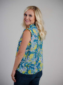 Floral top with ruffle detail molly bracken