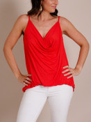 Basic Cowl Neck Tank Top