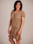 Molly Bracken green floral wrap dress