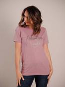 purple adventure awaits graphic tshirt