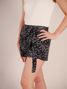 black shorts with white floral print elastic waist Molly Bracken