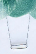 """Dainty oval on adjustable chain from 15.5"""" - 18"""" incuding 1"""" charm. Lobsterclaw clasp. Nickel and lead free."""