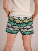 tropical shorts navy lime green emerald green Molly Bracken