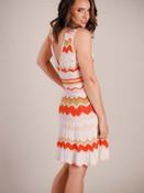 Molly Bracken chevron pattern lightweight sweater dress