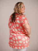 coral top with animal print Umgee plus clothing curvy