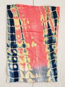 Grey & Coral Tie Dye Boho Bandeau