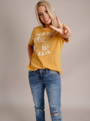 road trip please mustard yellow graphic T-shirt