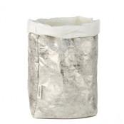 UASHMAMA xxl organic paper bags Nuvola silver
