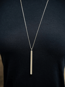 Lauren Cylinder Pendant Necklace