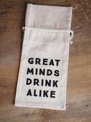 Graphic Print Cotton Wine Bag