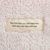 Demdaco love faith happiness plush prayer blanket