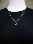 Samantha Short Necklace With Crystal Pendant
