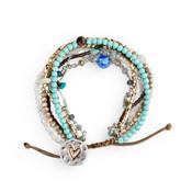 A lot happens in seven days love heart bracelet