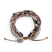 A lot happens in seven days love heart bracelet gray