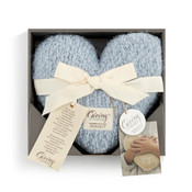 soft blue weighted giving heart demdaco