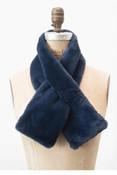 Faux fur pull through scarf