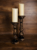 Turned Wood Candle Holder