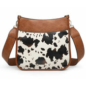 cow print crossbody with guitar strap Jen and Co