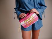 Straw Wristlet - 'Summer Love'