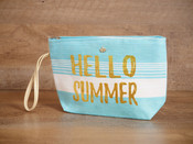 Straw Wristlet - 'Hello Summer'