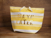 Large Straw Tote - 'Sea Ya' Later'