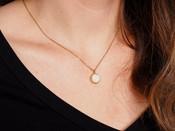Circle Druzy Dainty Necklace