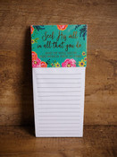 Inspirational Magnetic Notepad - Seek His Will in Everything You Do.