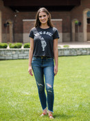 rock-n-roll tiger grey charcoal graphic t-shirt