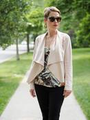 pink blush faux suede jacket