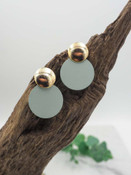 gold round earrings mint