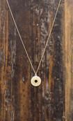 gold chain sunburst pendant necklace