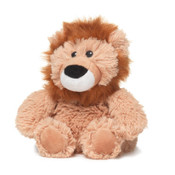 """All age groupscan have hours of funusingtheirWarmies®Cozy Plush Junior Lion,knowing that they can be warm all night long.  The 9"""" Junior Lion is fully microwavable yet entirely safe to hold tight after taking a bath, putting on PJs, and heading up the stairs to bed."""