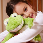 "All age groups can have hours of fun using their Warmies® Cozy Plush Frog , knowing that they can be warm all night long.   The 13"" Frog  is fully microwavable yet entirely safe to hold tight after taking a bath, putting on PJs, and heading up the stairs to bed.  For adults seeking some gentle relief for aching muscles or sore joints after a long and hard day, Warmies® Cozy Plush Frog  is ideal.  The Frog  is gently scented with French lavender that is carefully sourced from local growers in Provence."