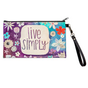 Live Simply zippered pouch wristlet inspirational gift