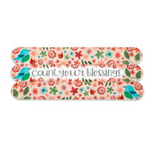count your blessings emery board gift inspirational spa