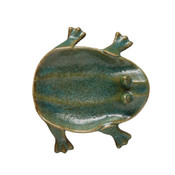 Decorative Frog Dish in a Turquoise Glaze.