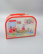 magic forest red and white polka dot tea set in carrying case