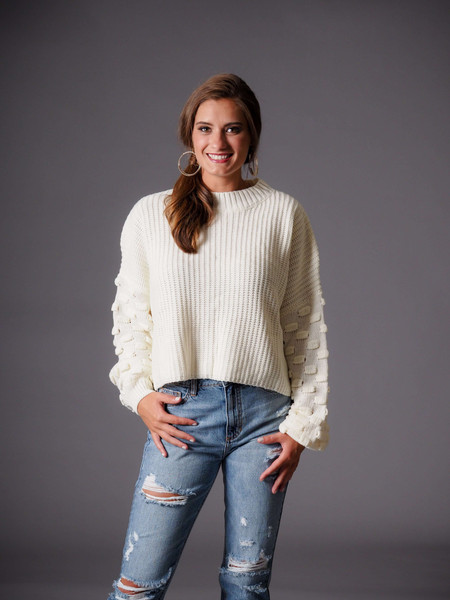 ivory cream knit sweater