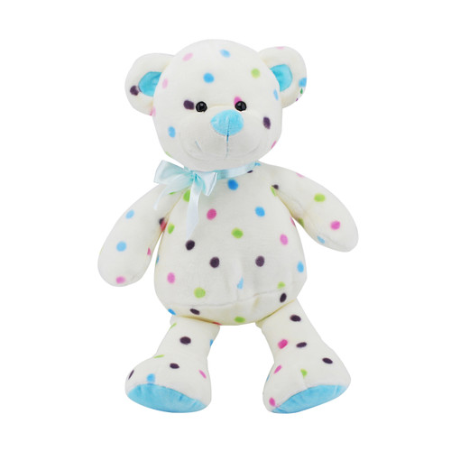 Dot Bear Blue 25cm