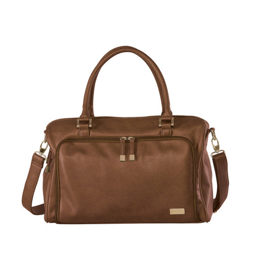 Double Zip Satchel Redwood