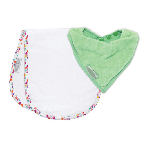Mint/Pansy Shoulder & Bandana Bibs pack