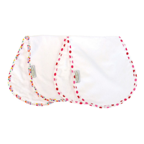 Pansy/Dot Shoulder Bib 2pk