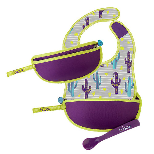 Travel Bib & Spoon Cactus Capers
